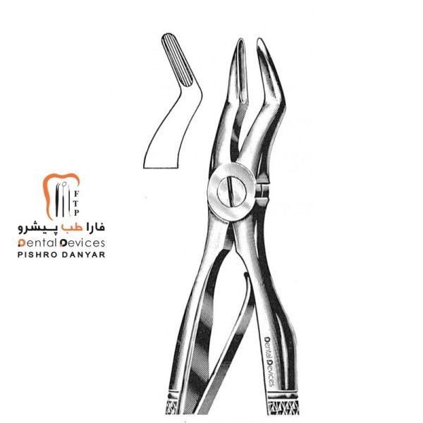ابزار و لوازم و تجهیزات دندانپزشکی فورسپس ریشه کش بالا اطفال