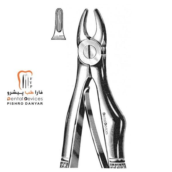 ابزار و لوازم و تجهیزات دندانپزشکی فورسپس سانترال بالا اطفال