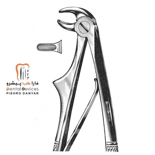 ابزار و لوازم و تجهیزات دندانپزشکی فورسپس ریشه کش پایین اطفال