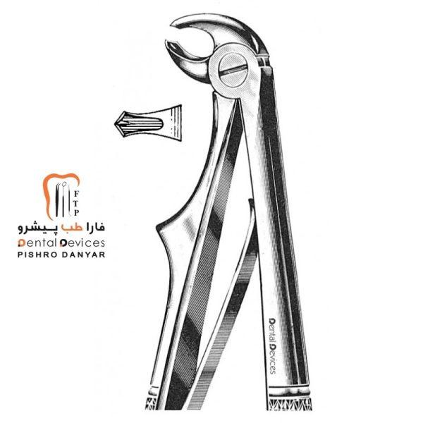 ابزار و لوازم و تجهیزات دندانپزشکی فورسپس مولر پایین اطفال