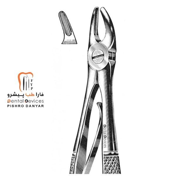 ابزار و لوازم و تجهیزات دندانپزشکی فورسپس پرمولر بالا اطفال