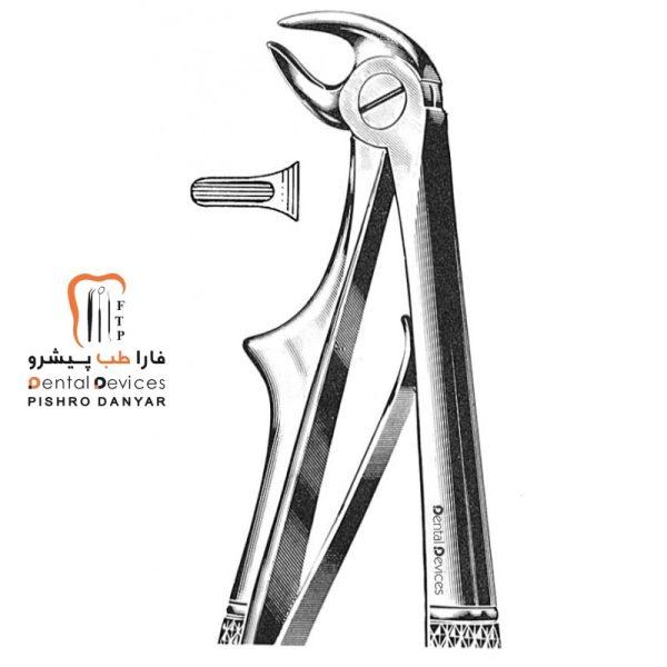 ابزار و لوازم و تجهیزات دندانپزشکی فورسپس پرمولر پایین اطفال