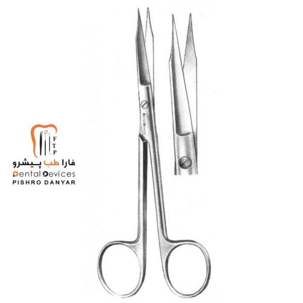 ابزار و لوازم و تجهیزات دندانپزشکی قیچی جراحی سرصاف