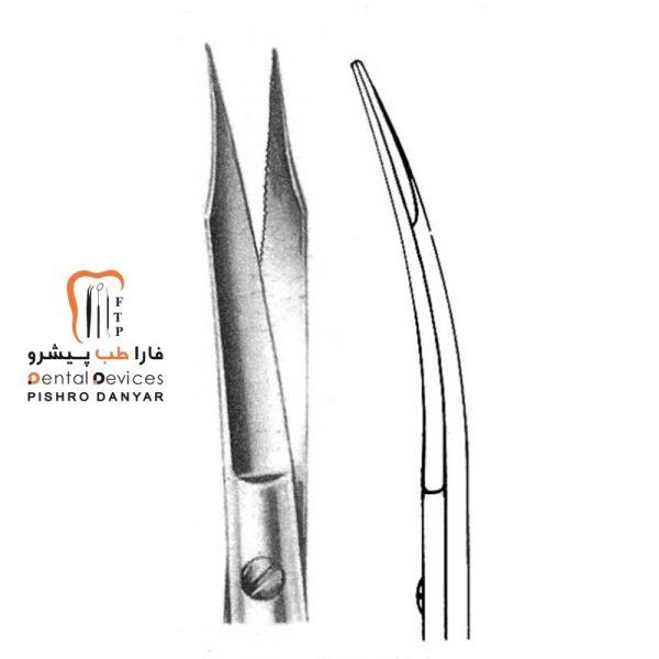 ابزار و لوازم و تجهیزات دندانپزشکی قیچی جراحی سرکج