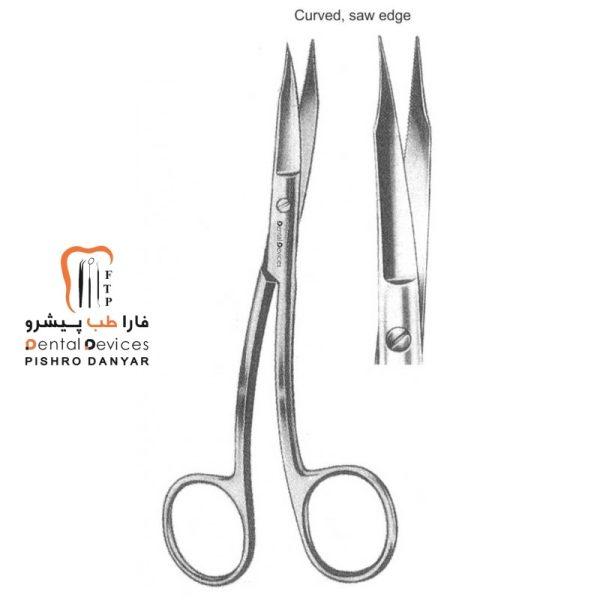 ابزار و لوازم و تجهیزات دندانپزشکی قیچی دوخم بزرگ
