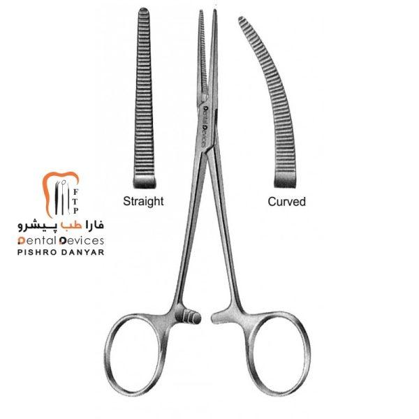 ابزار و لوازم و تجهیزات دندانپزشکی هموستات کج