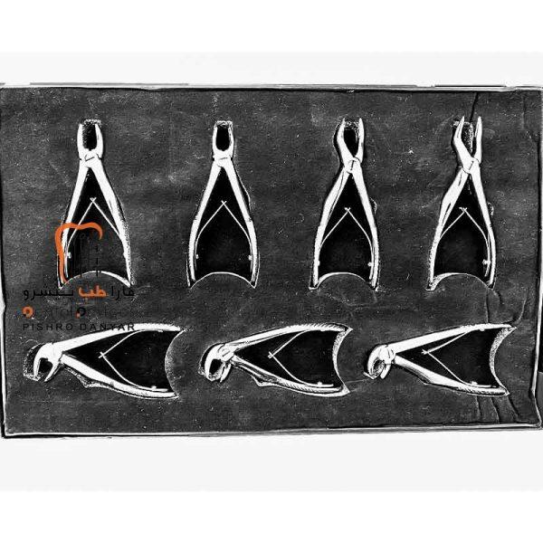 ابزار و لوازم و تجهیزات دندانپزشکی ست فورسپس اطفال